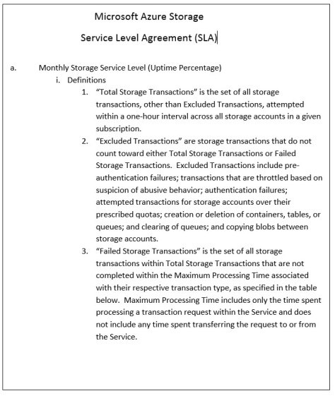 msft sla for storage-1